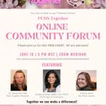 PCOS Together Online Community Forum:  June 16, 2021